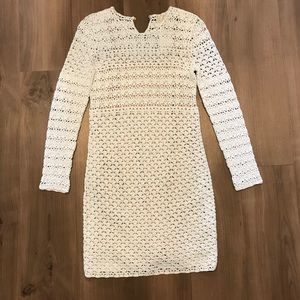 Michael Kors Long Sleeve Crochet Dress